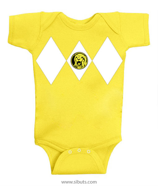 Panalero Bebe Power Ranger Amarillo