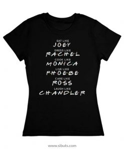 Playera Mujer Serie Friends Names Joey Rachel Monica Ross Chandler Phoebe
