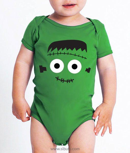 Pañalero verde frankenstein Halloween