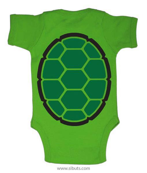 Pañalero verde tortuga ninja Leonardo