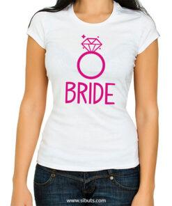 Playera blanca mujer Bride Boda Novia