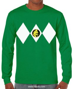 Playera hombre manga larga Power Ranger Verde Green