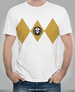 Playera hombre Power Ranger Blanco White