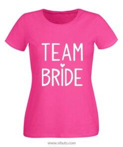 Playera blanca mujer Team Bride Boda Novia