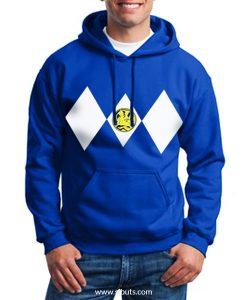 Sudadera con Gorro Azul Power Ranger Azul Blue