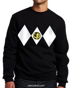 Sudadera cuello redondo Negra Power Ranger Negro Black