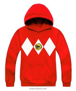 Sudadera con Gorro Roja Power Ranger Rojo Red