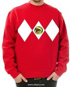 Sudadera cuello redondo Roja Power Ranger Rojo Red