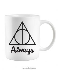 Taza blanca Harry Potter Always