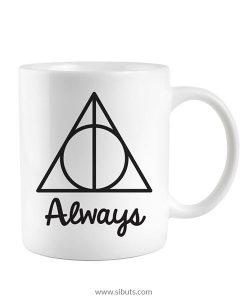 Taza blanca Harry Potter Always