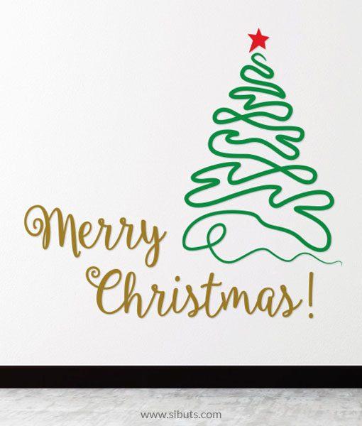Vinil Decorativo Árbol Navidad