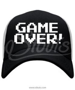 Gorra negra trucker Game Over