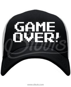 Gorra negra trucker Game Over
