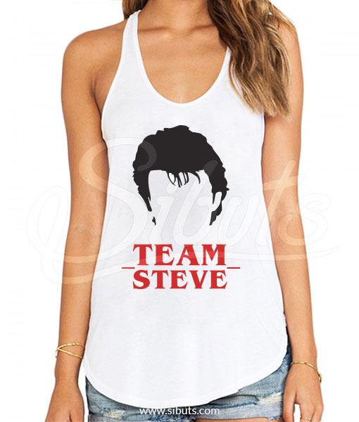 Tank top mujer Stranger Things Team Steve Harrington