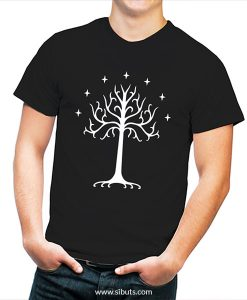 Playera hombre Lord of the rings Árbol Blanco de Gondor Tolkien