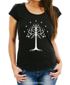 Playera mujer Lord of the rings Árbol Blanco de Gondor Tolkien