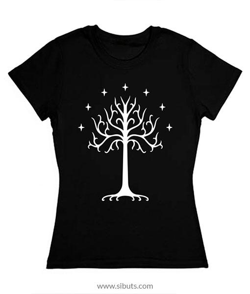 Playera mujer Lord of the rings Árbol Blanco de Gondor Tolkien