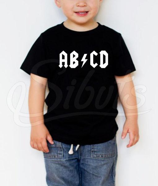 Playera niño Ab Dc Rock Ac Dc