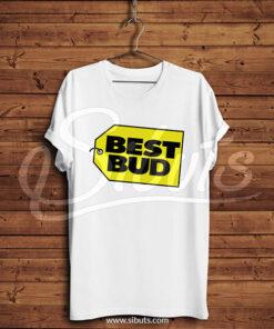 Playera hombre blanca Best Bud