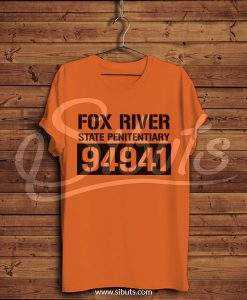 Playera hombre naranja Fox River Prison Break