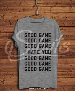 Playera hombre gris good game