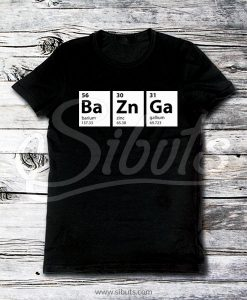 Playera hombre negra Bazzinga Big Bang Theory