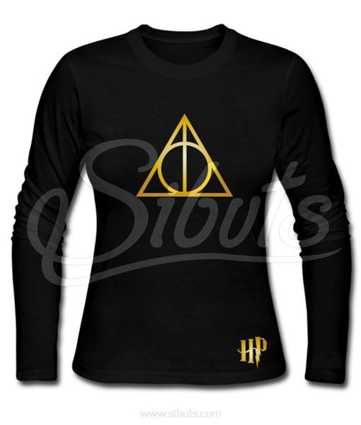 Playera mujer manga larga harry potter