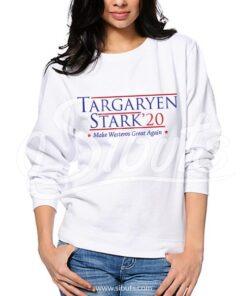 Sudadera cuello redondo mujer blanca Targaryen Stark Game of thrones