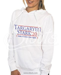 Sudadera con gorro mujer blanca Targaryen Stark Game of thrones