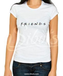 Playera blanca para mujer serie friends