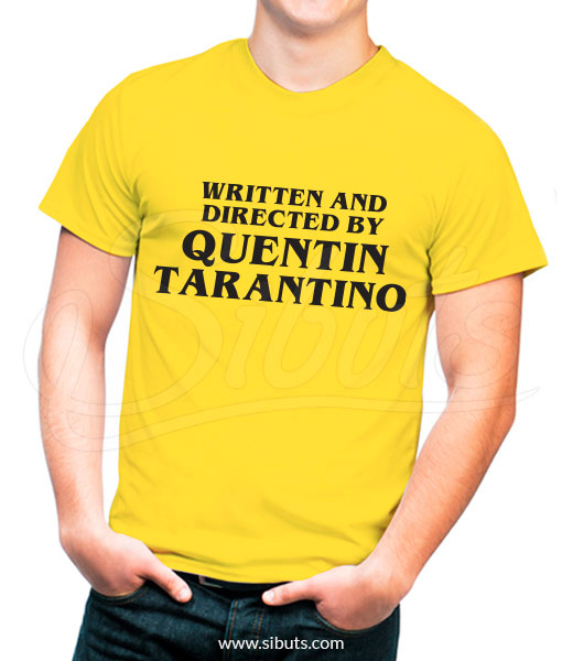 Playera hombre Written And Directed By Quentin Tarantino