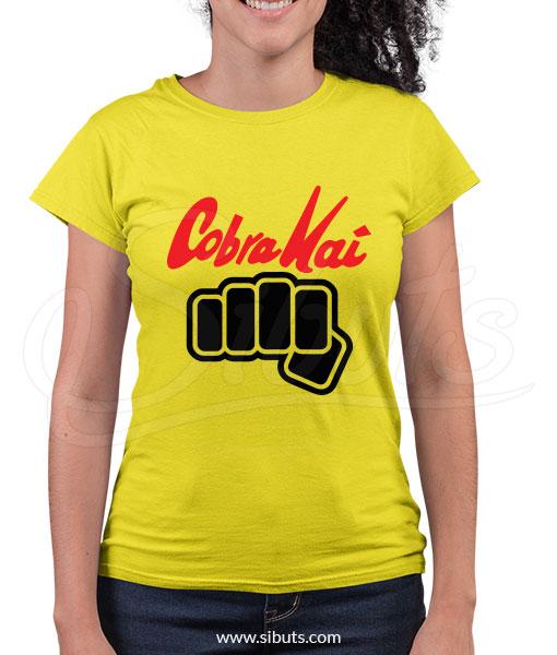 Playera Mujer Cobra Kai karate Kid