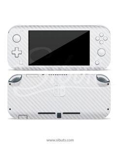 Skin Nintendo Switch Lite Fibra de Carbono Blanco
