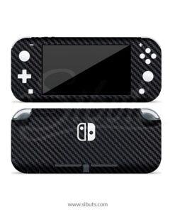 Skin Nintendo Switch Lite Fibra de Carbono Negro