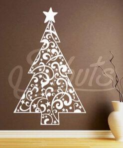 Vinil arbol navidad decorativo