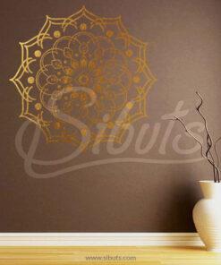 Vinil decorativo mandala Dorado