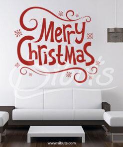 Vinilo navidad Merry Christmas