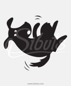 Vinil decorativo baño perro
