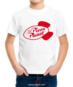 Playera niño pizza planet tot story