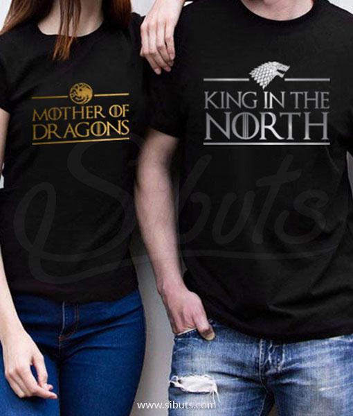 Playeras pareja Game of Thrones