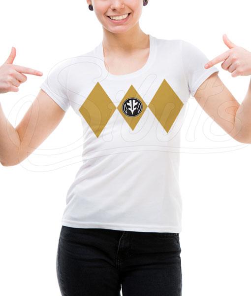 Playera mujer Power Ranger blanco