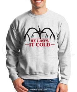 Sudadera cuello redondo hombre Stranger Things He Likes It Cold