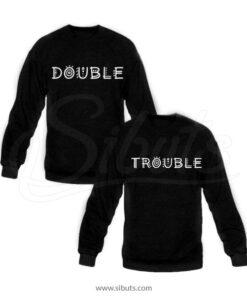 Sudadera pareja Double Trouble