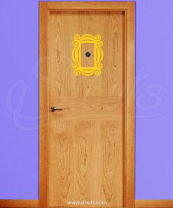 Vinil decorativo marco para puerta serie friends