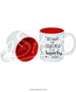 Taza navideña Harry Potter