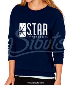 Sudadera cuello redondo mujer Star Laboratories Azul Marino
