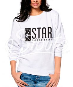 Sudadera cuello redondo mujer Star Laboratories Blanca