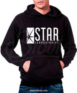 Sudadera gorro hombre Star Laboratories Negra