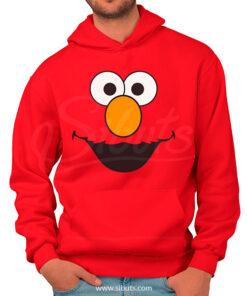 Sudadera capucha y cangurera o hoodie hombre Elmo Plaza Sésamo