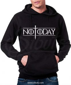 Sudadera gorro hombre not today arya game of thrones
